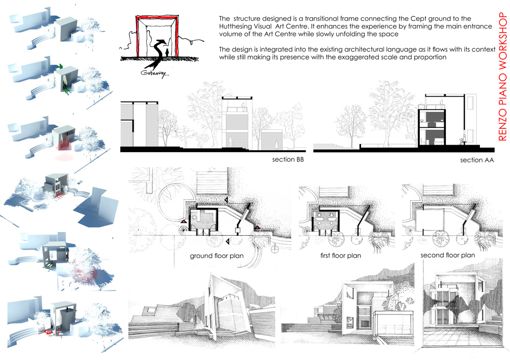 Results renzo piano workshop internship design for Various architectural concepts