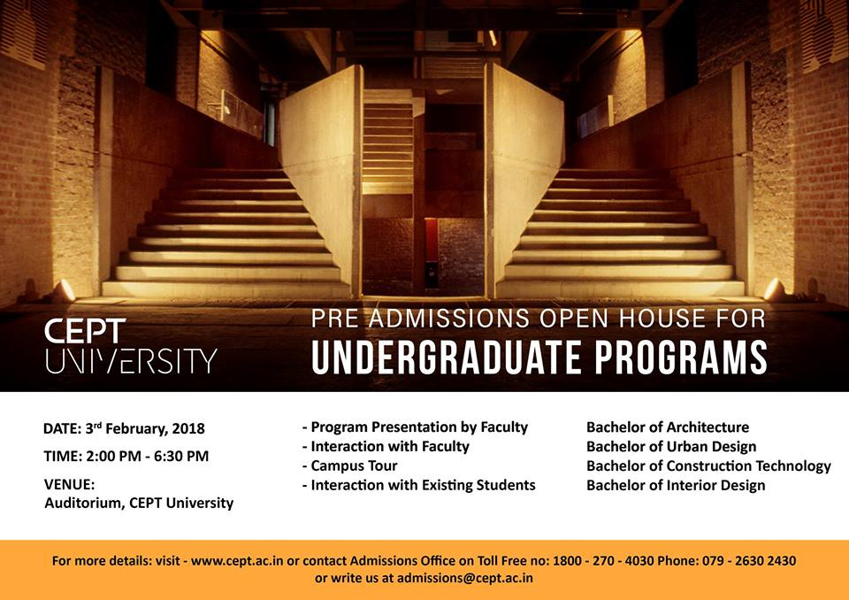 Pre Admissions Open House - Event - CEPT