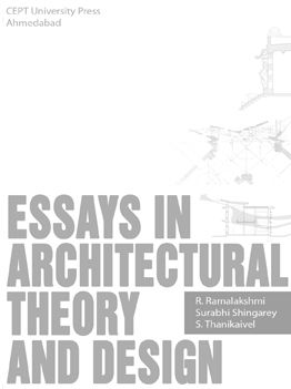 New Book Published Essays In Architectural Theory And Design